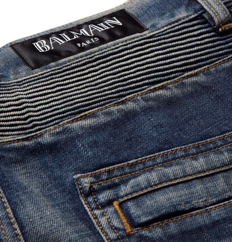 Balmain Men's Jeans Balmain is a French fashion house founded in by Pierre Balmain that is known for fine details, classic silhouettes, and elegant looks. One classic garment that Balmain produces is men's jeans and denim pants.